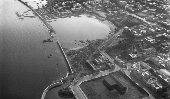 Construcción de la Rambla Sur. Año 1930 (Foto 178e FMH.CMDF.IMM.UY)