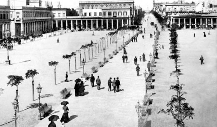 Plaza Independencia año 1899 (Foto 476b FMH.CMDF.IMM.UY)