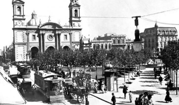 Plaza Matriz año (sin datos) (Foto 1295b FMH.CMDF.IMM.UY)