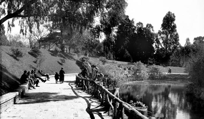 Parque Rodo. Año 1931 (Foto 706a FMH.CMDF.IMM.UY)