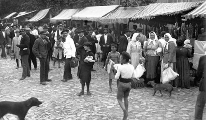 Feria Tristán Narvaja año 1920 (Foto 1474b FMH.CMDF.IMM.UY)