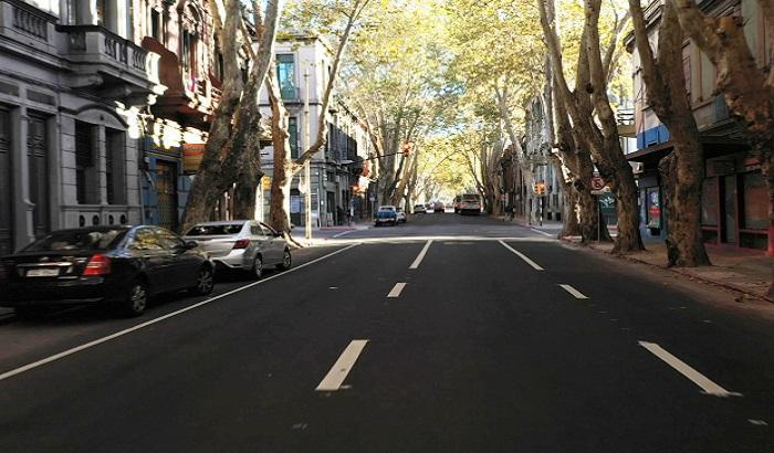 Obras en Av. Uruguay