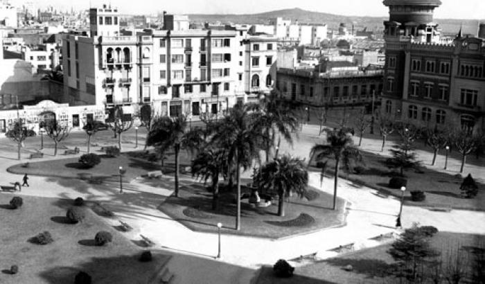Plaza de los Treinta y Tres Orientales  año 1935 (Foto 6520 FMH.CMDF.IMM.UY)