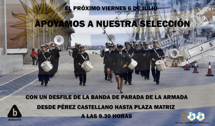 banda de la Armada Nacional en Ciudad Vieja
