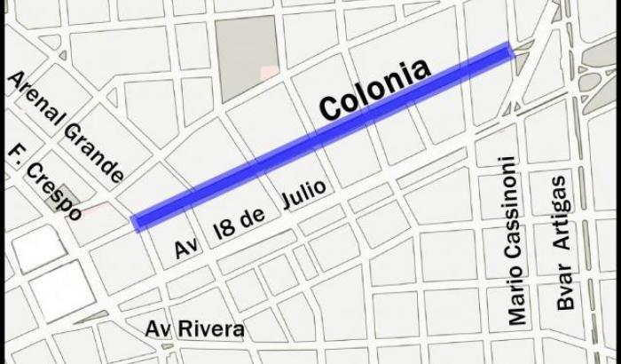 Este lunes comienzan los trabajos viales en la calle Colonia, entre Arenal Grande y Mario Cassinoni.