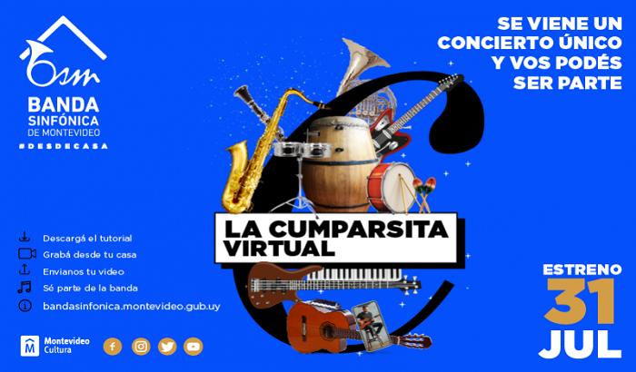 Sé parte del concierto Cumparsita virtual con La Banda Sinfónica de Montevideo interpretando el tema de Gerardo Mattos Rodríguez.